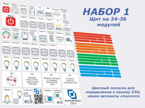 Набор маркировки для электрощита 1