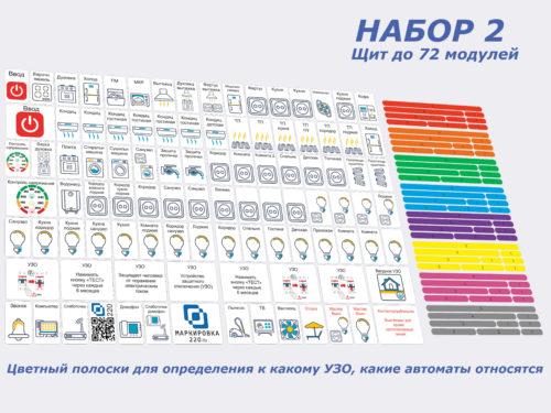 Набор маркировки для электрощита 2