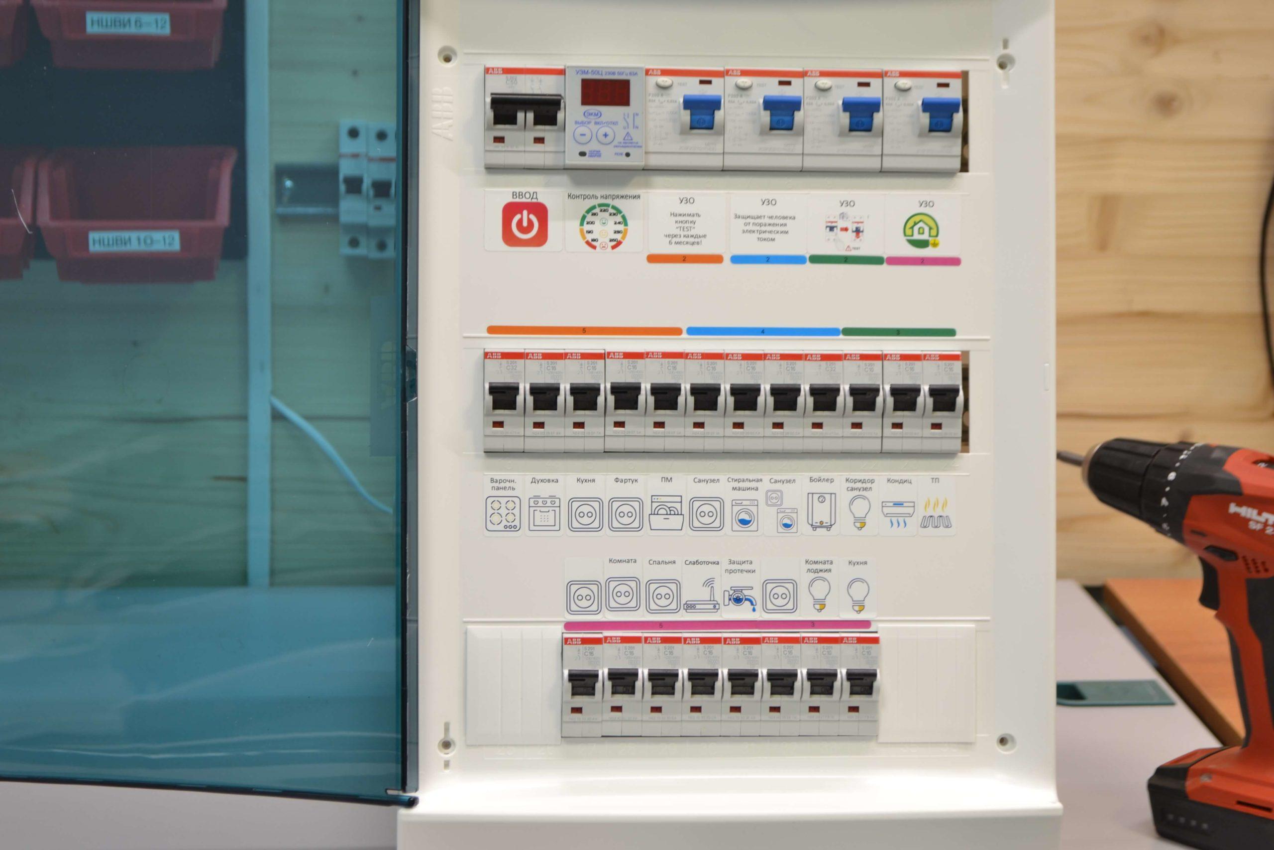 маркировка 220 для электрощита