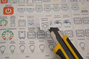Готовые наклейки для автоматов в щите